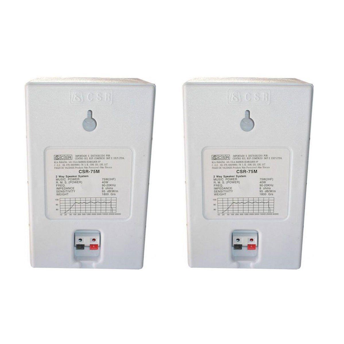 Caixa Passiva p/ Som Ambiente Fal 4 Pol 40W (Par) - 75 M CSR