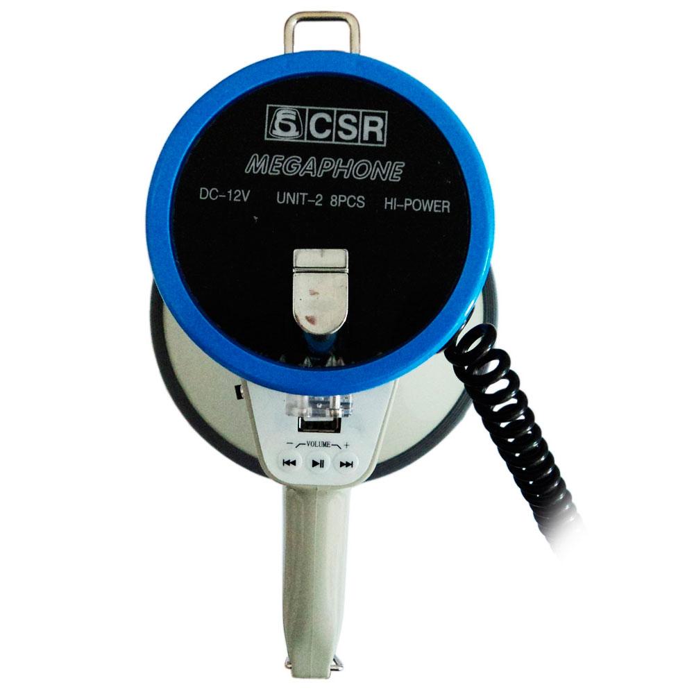 Megafone 25W c/ Microfone de Mão, USB e Sirene SK 66 - CSR