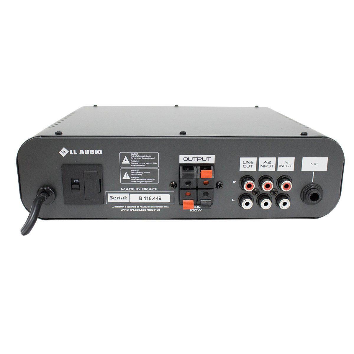 Amplificador NCA AB100 para Som Ambiente 100W 4 Ohms