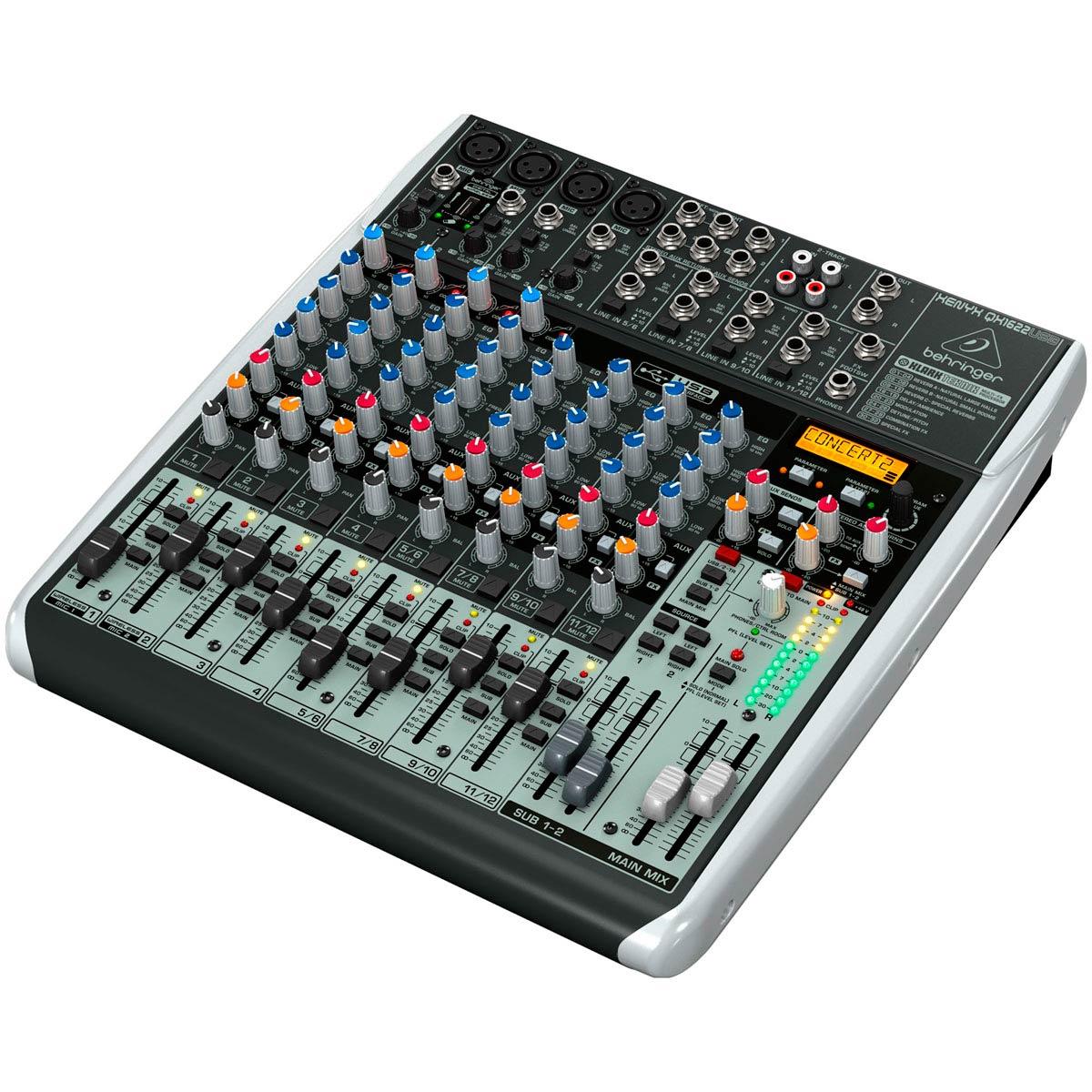 Mixer com 16 canais BiVolt - QX1622USB - Behringer