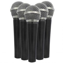 Microfone c/ Fio de Mão Dinâmico (5 Unidades) - 58 5 CSR