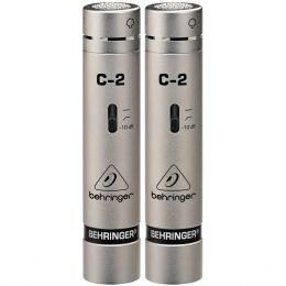 Microfone c/ Fio Condensador (Par) - C 2 Behringer