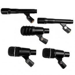 Microfone c/ Fio p/ Instrumentos de Percusão (5 Unidades) - DRK A 3 C 2 Superlux