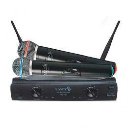 Microfone s/ Fio de Mão Duplo UHF - UH 02 MM Lyco