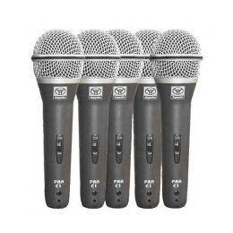Microfones c/ Fio de Mão Dinâmico (5 Unidades) PRA C 5 - Superlux