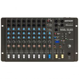 Mesa de Som 10 Canais (8 P10 Desbalanceados + RCA) c/ USB Play / 1 Auxiliar MXS 10 SD - Ciclotron