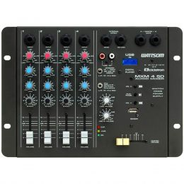 Mesa de Som 4 Canais P10 Desbalanceados Ciclotron c/ USB Play / 1 Auxiliar MXM 4 SD