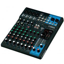Mesa de Som Yamaha 10 Canais (4 XLR Balanceados + 6 P10 Desbalanceados) c/ USB / Efeito / Phantom / 1 Auxiliar MG10XU