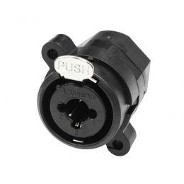 Conector Combo Painel XLR Macho / P10 - ACJC6V Amphenol