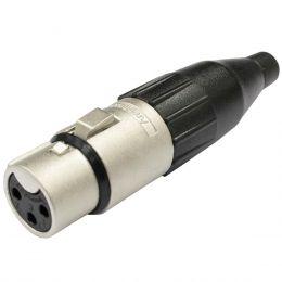 Conector XLR fêmea Linha - AC 3 F Amphenol