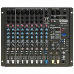 Mesa de Som 10 Canais Balanceados (8 XLR + 2 P10) c/ USB Play / Efeito / Phantom / 2 Auxiliares - AMBW 10 XDF Ciclotron