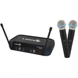 Microfone s/ Fio de Mão Duplo VHF - VH 202 PRO MM Lyco
