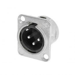 Conector XLR Macho NC 3 MD-L1 Painel Neutrik