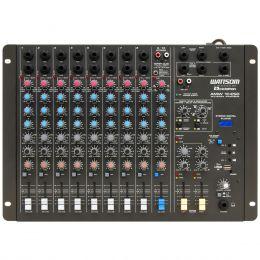 Mesa de Som 10 Canais P10 Balanceado c/ USB PLAY / Efeito / Phanton / 2 Auxiliares - AMW 10 ESD Ciclotron
