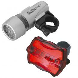 Kit de Lanterna para Bicicletas HX 8010 5 LEDs - CSR