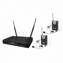 Microfone s/ Fio Duplo Headset / Lapela / Instrumento / UHF - UH 06 HLI HLI Lyco