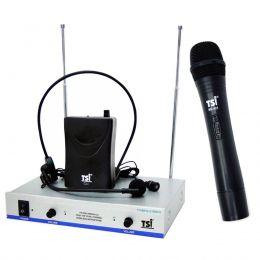 Microfone s/ Fio Mão / Headset e Lapela VHF - MS 425 CLI TSI