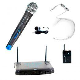 Microfone s/ Fio de Mão / Headset e Lapela UHF - MS 215 CLI TSI