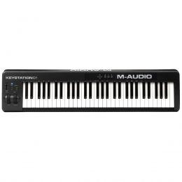 Teclado Controlador MIDI USB Keystation 61 II Teclas M-Audio
