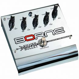 Pedal Distortion / Overdrive p/ Guitarra - Silver Bullet Borne