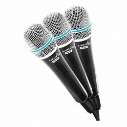 Microfone c/ Fio de Mão Dinâmico (3 Unidades) - SML 48 SP3 Lyco