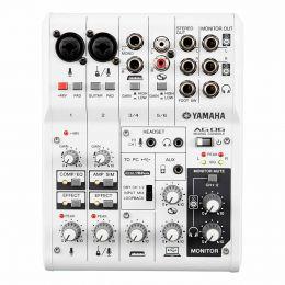 Mesa de Som 6 Canais (2 XLR Balanceados + 2 P10 Desbalanceados + RCA) c/ USB / Phantom / 1 Auxiliar - AG06 Yamaha