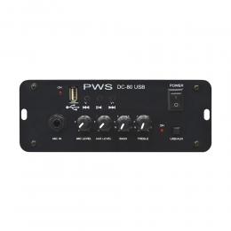 Amplificador 12v 80W DC80 Usb PWS