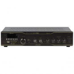 Amplificador Som Ambiente 200W até 40 Caixas c/ USB / Bluetooth / APP - Slim 3000 APP Optical Frahm
