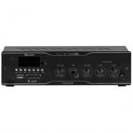 Amplificador Som Ambiente 40W até 12 Caixas c/ USB / Bluetooth / APP - Slim 1000 APP Frahm