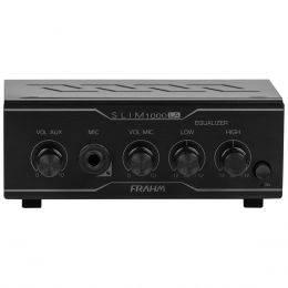 Amplificador Som Ambiente 40W até 12 Caixas - Slim 1000 LA Frahm