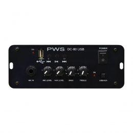 Amplificador p/ Propaganda Móvel 80W c/ USB - DC 80 PWS