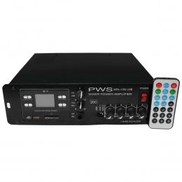 Amplificador Som Ambiente 100W até 20 Caixas c/ USB - MPA 1100 USB 20C PWS