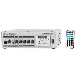 Amplificador Landscape SPA500 Som Ambiente 50+50W Estereo 100W mono c/ USB