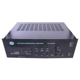 Amplificador Som Ambiente CSR SA9120CD 120W de 4/8/16 ohms 70V/100V c/ 4 entradas Microfones, 2 Auxiliar, CD Player, Equalizador