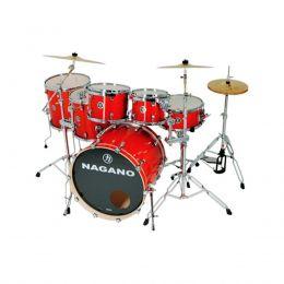 Bateria Acústica Nagano Concert Full Lacquer Smoke Red 22 Polegadas