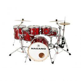 Bateria Acústica Nagano Work Series Red Sparkle 22 Polegadas