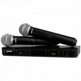 Sistema sem Fio BLX288BR 2 Microfones PG58 Shure