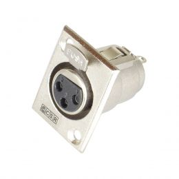 Conector Cannon XLR Fêmea Painel - Q 89 CSR