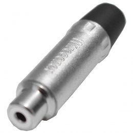 Conector de Aúdio WIRECONEX WC1222 BK RCA Fêmea