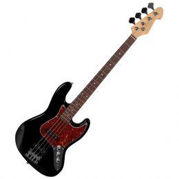 Contrabaixo Michael BM607N BT 4 Cordas Passivo Jazz Bass - Preta com Tortoise