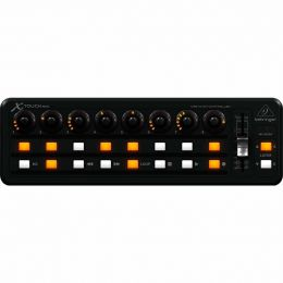Controlador MIDI/USB X-TOUCH MINI - 16 botoes iluminados, 8 encoders e 1 fader slider 60mm - Behringer