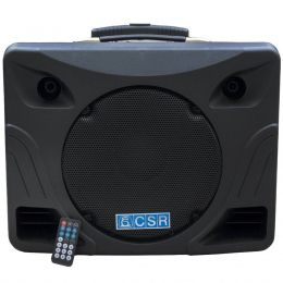 Cubo Multiuso CSR MT 12A BT Amplificado Falante de 12 polegadas 100W c/ Player USB e Bluetooth