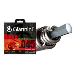 Encordamento em níquel para contrabaixo GEEBRS5 5 Cordas .045 com acabamento bolinha Giannini