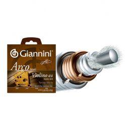 Encordamento em aço aluminio para Violino 4/4 GEAVVA com acabamento bolinha Giannini