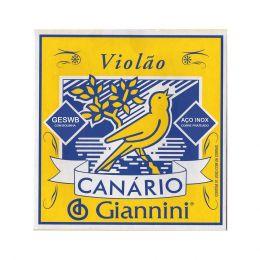 Encordamento em aço cobre para Violão Giannini com acabamento bolinha Canário GESWB