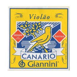Encordamento em nylon cobre para Violão Giannini com acabamento bolinha Canário GENWB