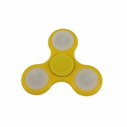 Fidget Hand Spinner Toy Amarelo c/ LED - Fingertoy