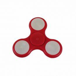 Fidget Hand Spinner Toy Vermelho c/ LED - Fingertoy