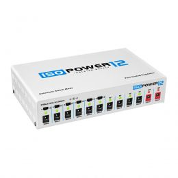 Fonte Automática de 9,12 e 18V DC 3700mA 12 Plugs 12 saidas isoladas Iso Power 12 - Landscape