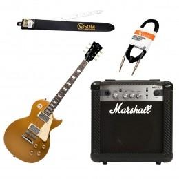 Guitarra Estudante Les Paul 6 cordas + Cubo MG 10CF 10W + Cabos e Correias KIT GUI LES PAUL - VOXTRON